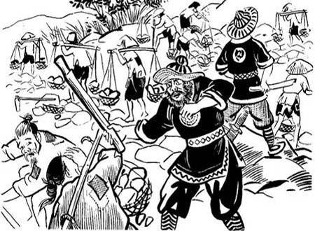 Tội ác quân Minh (Tranh minh họa từ internet)