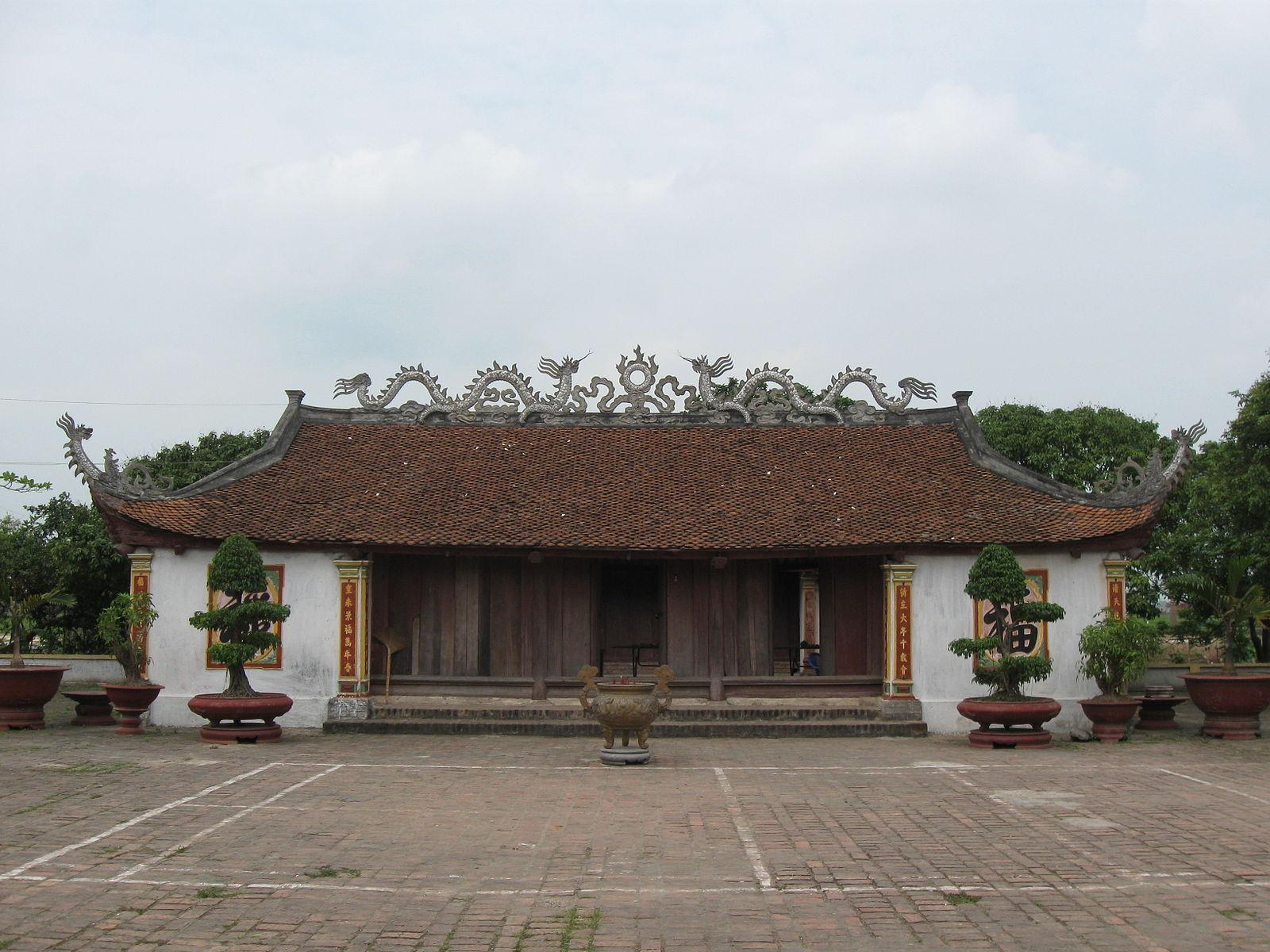 Đền thờ Mạc Đĩnh Chi tại quê ông. (Ảnh từ wikipedia.org)
