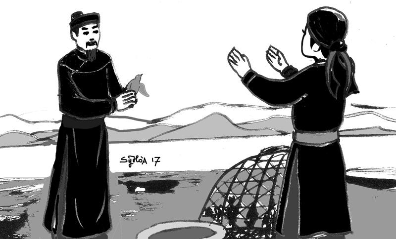 Nguyễn Thị Bành cùng chồng nuôi đội quân bồ câu đưa thư. Ảnh baobinhphuoc.com.vn)