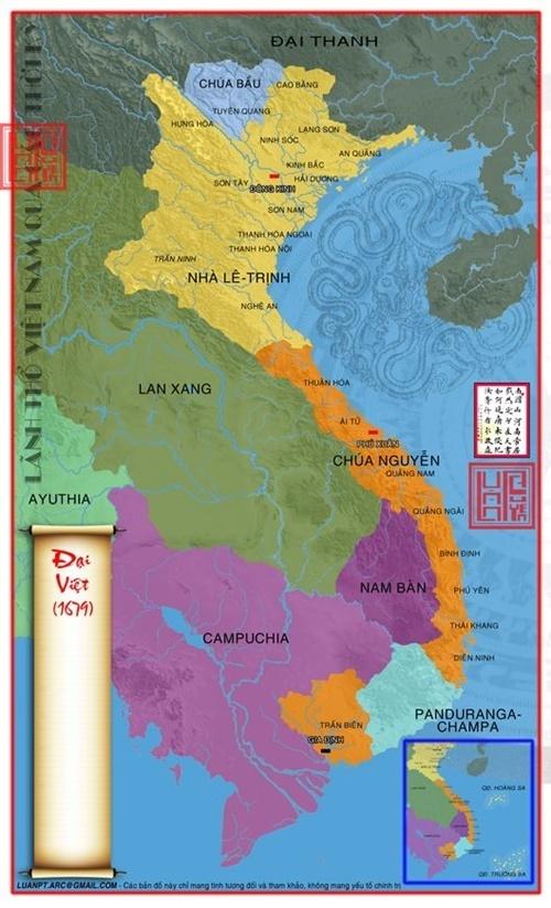 bản đồ Đại Việt 1679