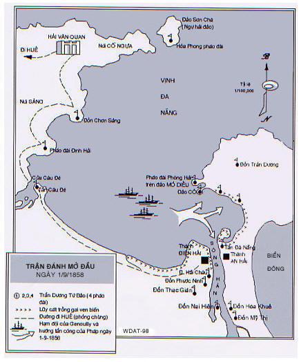 Bản đồ trận Đà Nẵng 1858