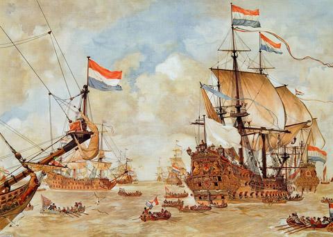 Tàu chiến Hà Lan. (Ảnh từ congly.vn)