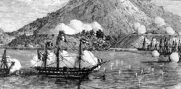 Tàu chiến Pháp bắn phá Đà Nẵng