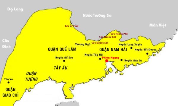 bản đồ Nam Việt