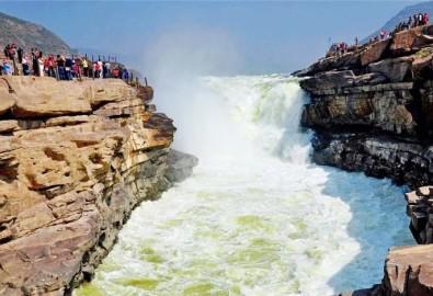 Sông Hoàng Hà trở nên trong. Ảnh sohu