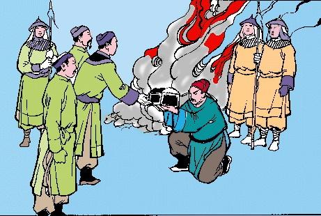 Nhà Trần luận tội hàng tướng. (Ảnh từ nghiencuulichsu.com)