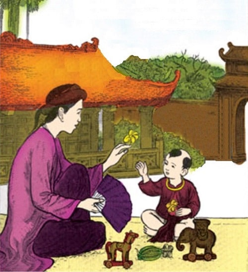 Mẹ dạy con. (Ảnh qua kienthuc.net.vn)