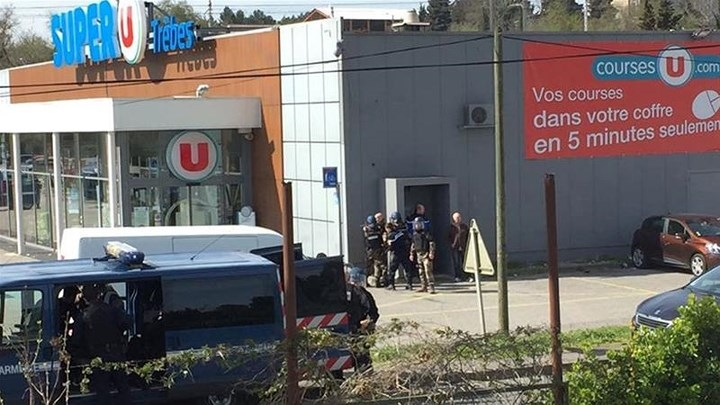 Siêu thị thuộc chuỗi SUPER U, nơi xảy ra vụ bắt cóc. Ảnh: Al Zazeera.
