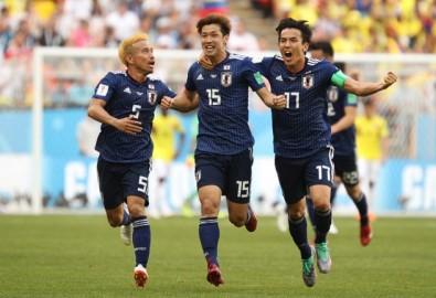 Đội tuyển Nhật Bản mừng chiến thắng. Ảnh thethao247.vn