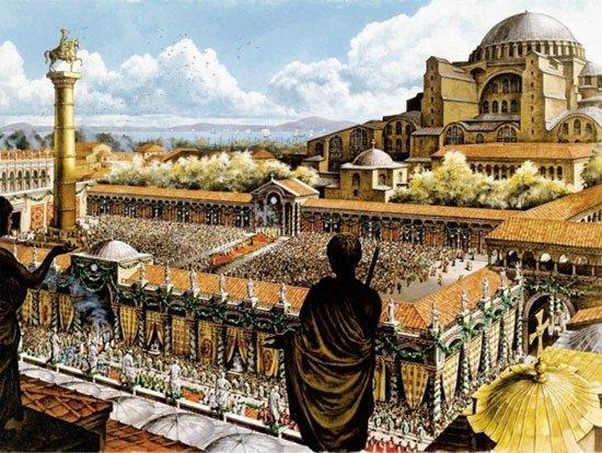 Hình ảnh đế quốc Byzantine. (Tranh từ thebyzantinelegacy.com)