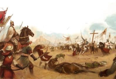 Trận Montgisard. (Tranh từ deviantart.com)