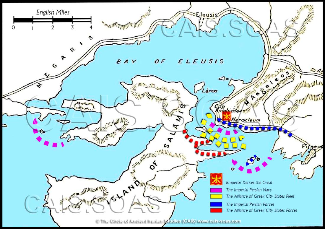 Bản đồ trận Salamis