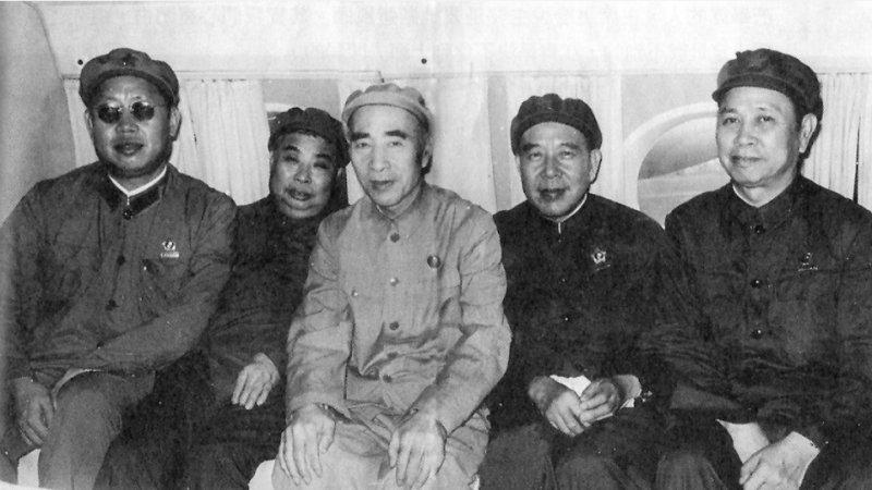 Từ trái: Hoàng Vĩnh Thắng, Ngô Pháp Hiến, Lâm Bưu, Lý Tác Bằng, Khưu Hội Tác (Ảnh từ internet)