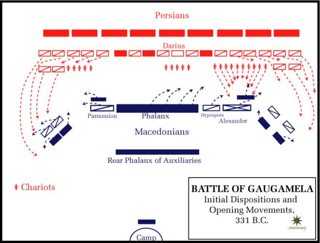 Vị trí quân của hai bên vào đầu trận đánh. (Ảnh từ wikipedis.org)