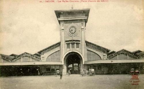 Chợ Bến Thành năm 1914 (Ảnh từ ilovesaigon.net)