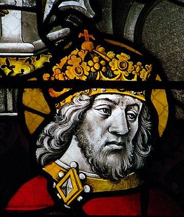 Chân dung Karl Đại Đế tại Nhà thờ chính tòa Moulins, nước Pháp vào thế kỷ XV