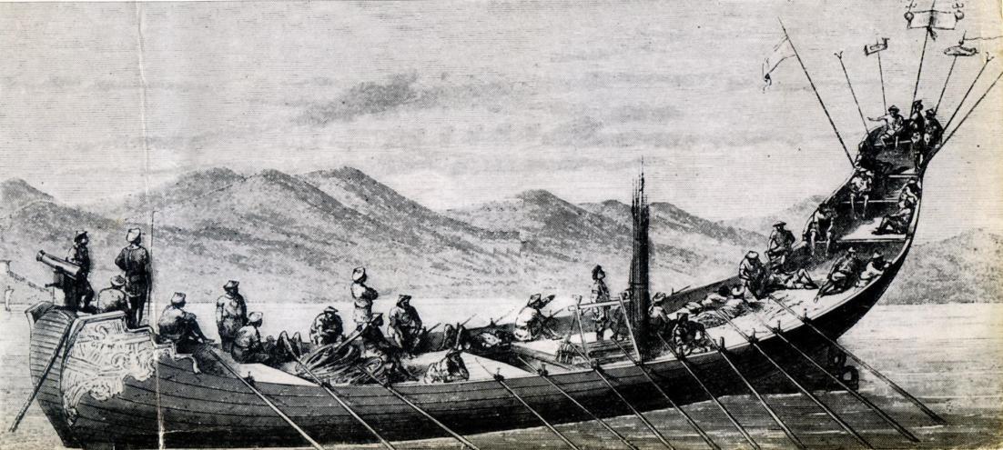 Thủy quân nhà Nguyễn. (Tranh từ nghiencuulichsu.com)