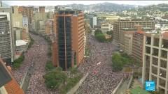 biểu tình tại Venezuela. Ảnh youtube
