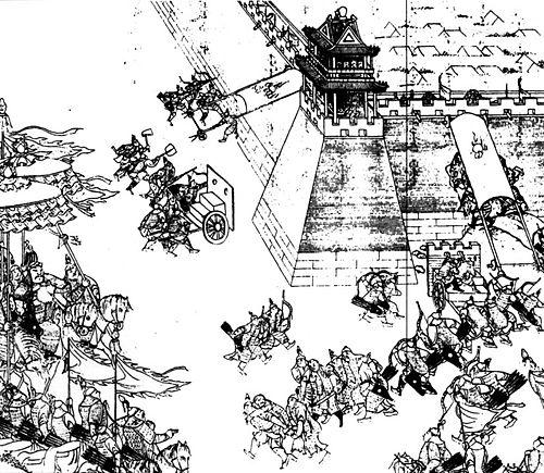Nỗ Nhĩ Cáp Xích chỉ huy quân Đại Kim công đánh Ninh Viễn lần thứ nhất. (Ảnh từ wikipedia.org)