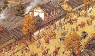 Cảnh tượng náo nhiệt ở chợ Tây thành Trường An thời cổ đại. Ảnh zhengjian.org