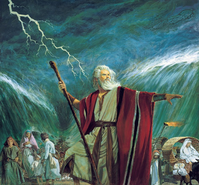 """Truyền thuyết về """"Phép màu của Moses"""". (Ảnh qua Kênh 14)"""