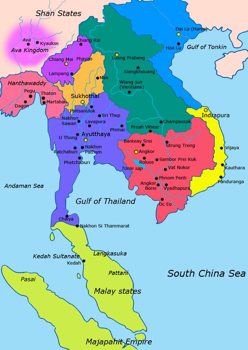 Kinh đô Luang Prabang của Lan Xang. (Ảnh từ wikipedia.org)