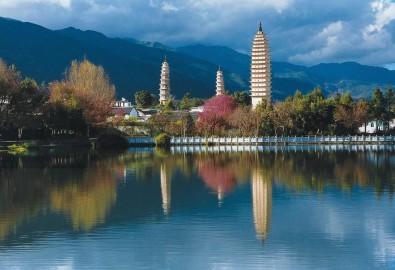 Tam tháp Đại Lý: Công trình vĩ đại từ thời nhà Đường. (Ảnh từ wiki travel)