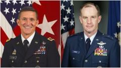 Ảnh kết hợp: Tướng Michael Flynn và tướng Thomas McInerney (phải). (Ảnh qua The American Report)