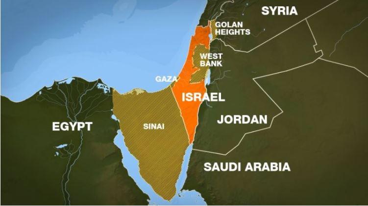 Bản đồ Trung Đông. (Ảnh từ http://hahoangkiem.com)