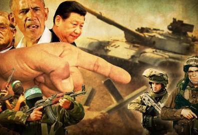 """Người Do Thái ở Israel và những người theo Đảng Cộng hòa bảo thủ tại Mỹ đều chỉ là """"vật tế thần"""" của các thế lực ngầm đang muốn thâu tóm quyền lực trên thế giới, mà ĐCSTQ là một trong những quyền lực tội ác đầu sỏ. (Ảnh tổng hợp)"""